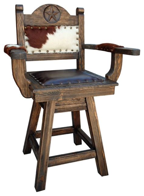 southwestern bar stools rancho collection western swivel stool arms