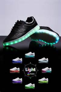 womens led light up shoes black sneaker from neonnancy on