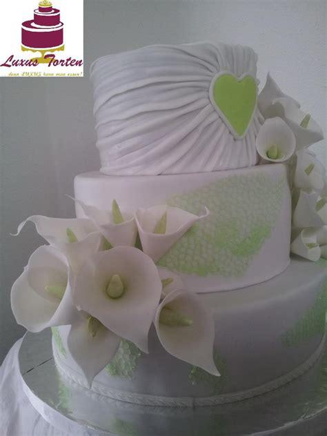 Hochzeitstorte Calla by Hochzeitstorte Mit Callas Gr 252 N Luxus Torten