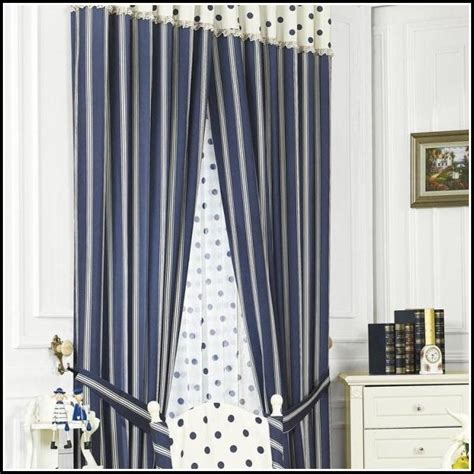 white and navy striped curtains navy and white striped curtain fabric curtains home