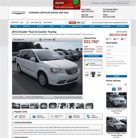 2013 Chrysler Town And Country Price by 2013 Chrysler Town And Country Real Dealer Prices Free