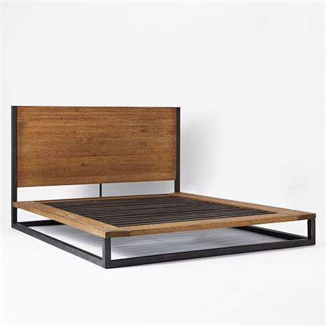 industrial platform bed west elm