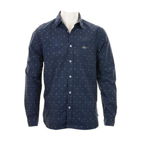 pattern shirts uk lacoste mens regular fit pattern shirt navy shirts