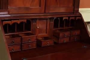 Secretarial Desks Mahogany Antique Styling Colonial Desk Ebay