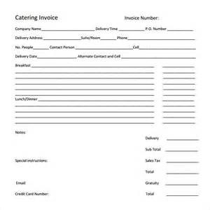 catering invoice template catering invoice template 10 free sles exles format