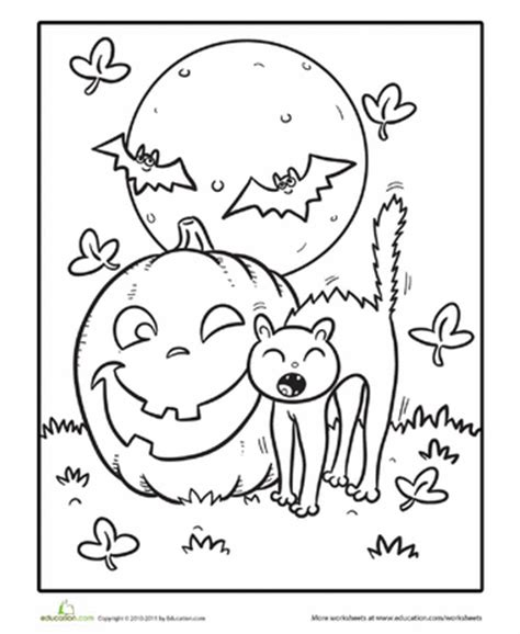 educational halloween coloring pages cute halloween coloring pages education com