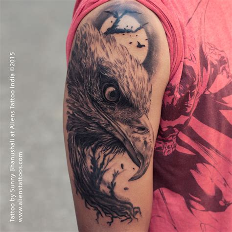tattoo eagle realistic realistic eagle tattoo by sunny bhanushali at aliens