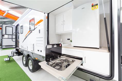 the peninsula apartment style slide out caravans cell