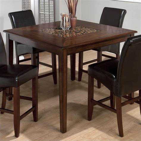 jofran 697 series counter height dining table in baroque