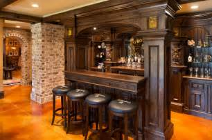 Home Pub Decor Elegant English Country Home Traditional Home Bar