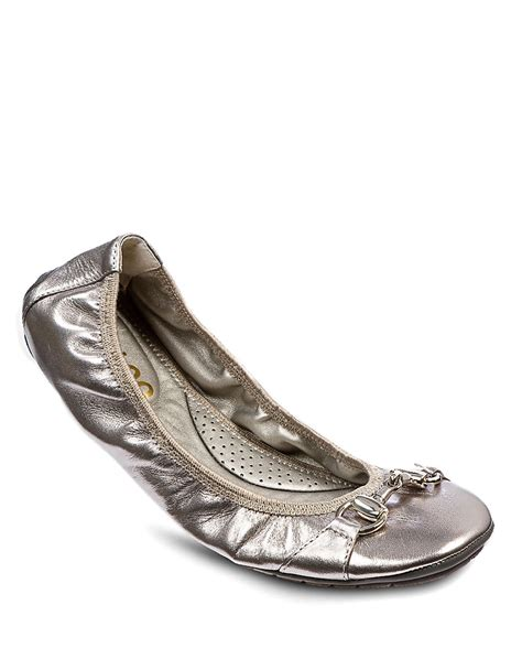 me shoes flats me legend patent leather ballet flats in metallic lyst
