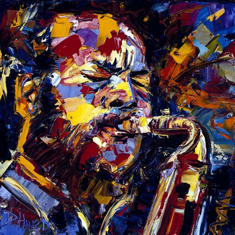 jazz artists biography ornette coleman jazz faces series painting by debra hurd