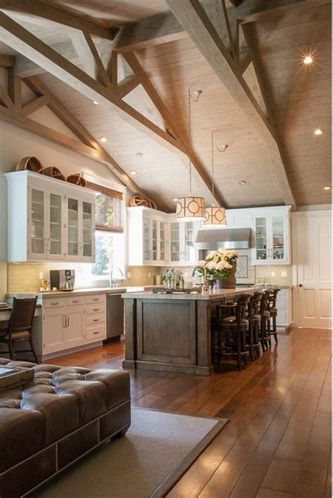kitchen with vaulted ceilings ideas best 25 vaulted ceiling kitchen ideas on pinterest