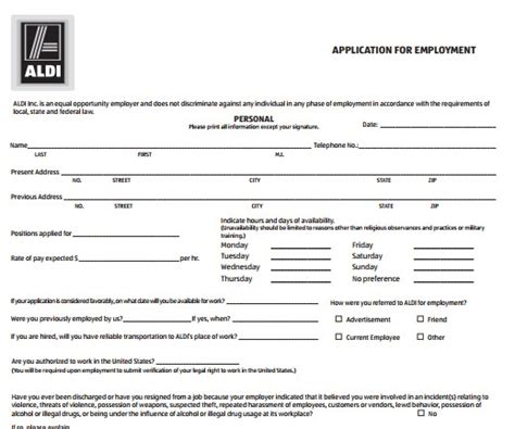 printable job application for aldis aldis job application resume builder