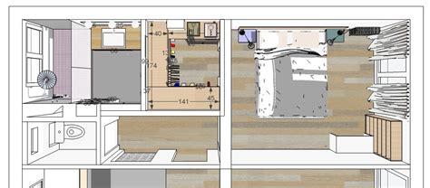 Supérieur Plan Chambre Parentale Avec Salle De Bain Et Dressing #1: plan_salle_d_eau_chambre_dressing.jpg