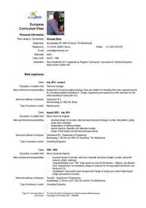 1 Page Curriculum Vitae by Cv Vpm Dols Europass Template Englisch 1 2016