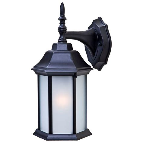 home depot exterior light fixtures acclaim lighting craftsman 2 collection 1 light matte black outdoor wall mount fixture 5182bk fr