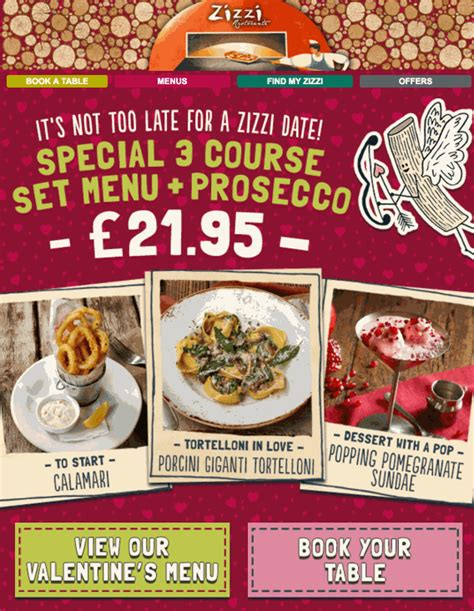S Day Zizzi Designing Your S Day Email Caign Emailcenter