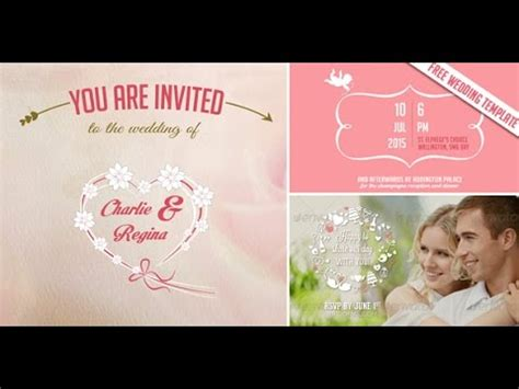 Free Video Wedding Invitation Save The Date After Effects Template Youtube Wedding Invitation Sles Free Templates