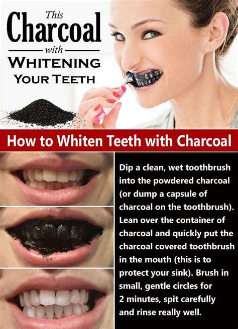 naturally whiten  teeth  charcoal health