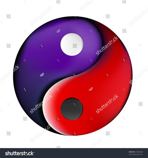 colorful yin  symbol stock vector  shutterstock