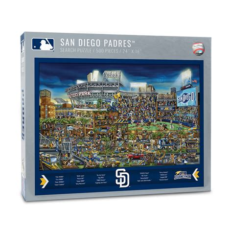 Finder San Diego Joe Journeyman San Diego Padres Seek And Find Adventure Puzzle Official Youthefan Store