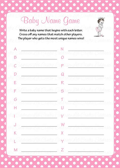 theme names for baby shower baby name baby shower game princess baby shower theme