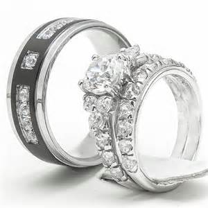 his and wedding sets 3pcs his and hers titanium 925 sterling silver wedding bridal matching ring set ebay