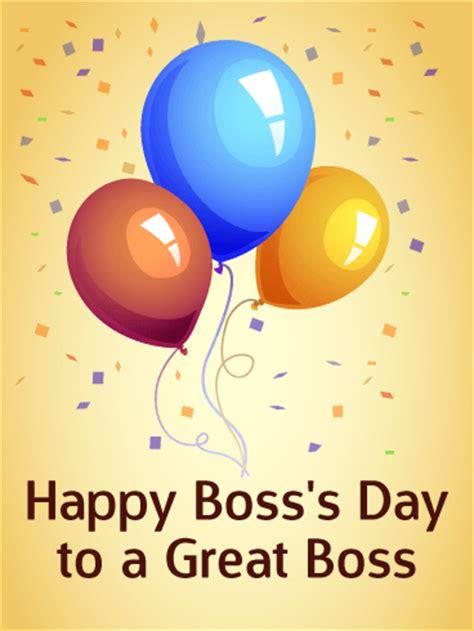 happy bosss day card birthday greeting cards  davia