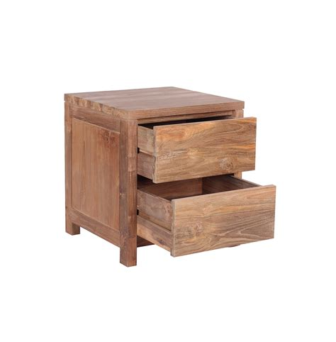 the praya reclaimed wood bedside table functional and