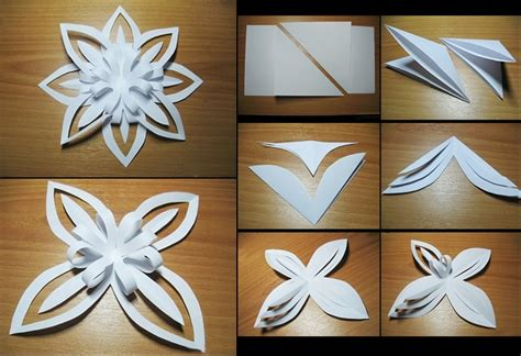 Easy Paper Snowflakes - paper snowflake beautiful looks easy