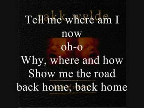 black label society road back home lyrics