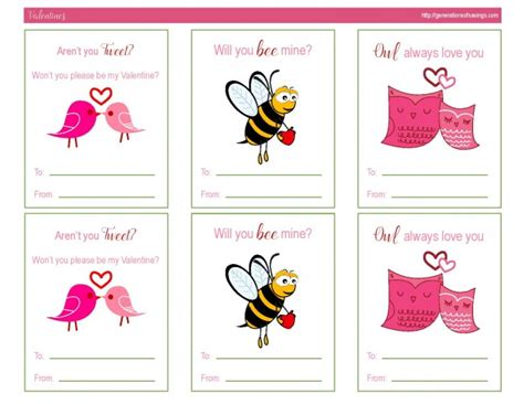 free printable animal valentines day cards awesome free printable valentines day cards free