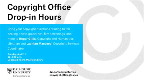 Copyright Office by Copyright Office Drop In Hours On The Agricultural Cus