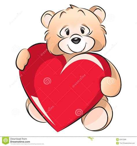 valentines teddy drawing teddy valentines day card stock vector