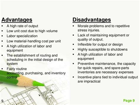 product layout advantages and limitations plant layout