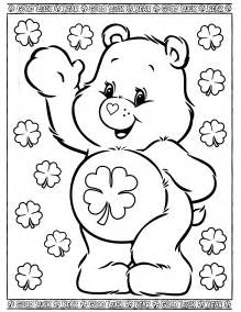 lucky care bear colouring pages