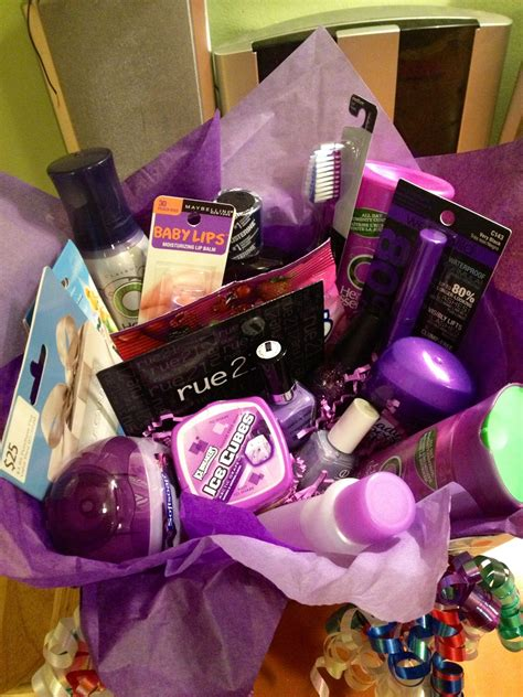 birthday themed makeup colorful gift basket ideas themed gift baskets friend