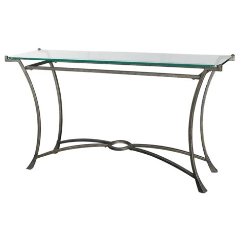 sofa table glass metal console tables glass top