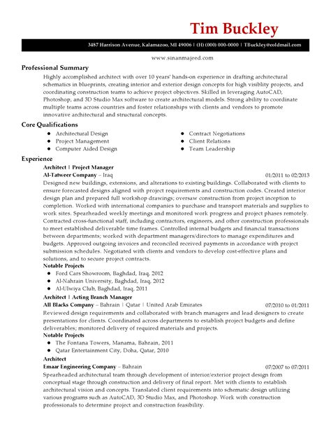 architecture resume template professional architect templates to showcase your talent