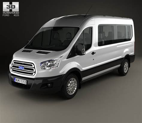 ford transit models ford transit minibus 2014 3d model humster3d