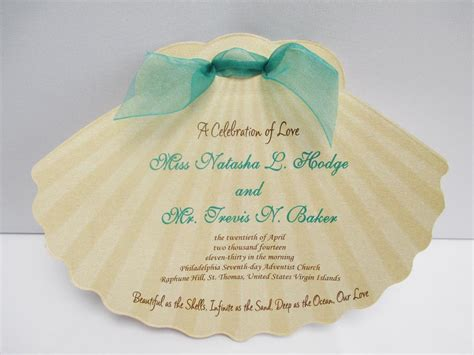 Shell Shaped Card Template by Shell Shaped Wedding Program Designs By Ginny