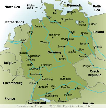 Germany Map With Cities by Map Of Major Cities In Germany Germany Pinterest
