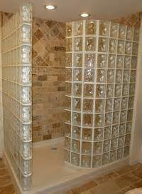 Glass block showers provide high style with low maintenance quality