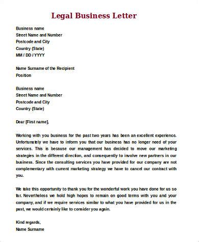 Business Letter Format Lawyer Sle Letter Format 9 Exles In Word Pdf
