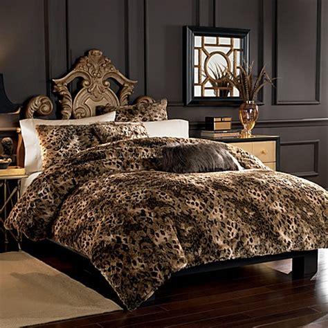 lynx faux fur duvet cover set bed bath