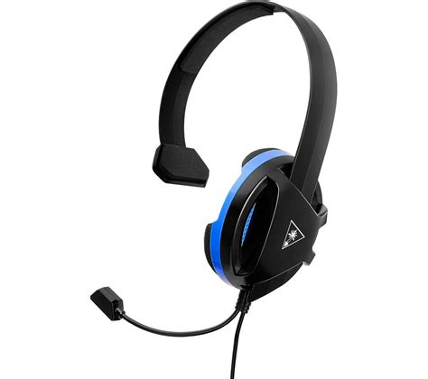 Headset Blue turtle recon chat gaming headset black blue deals pc world