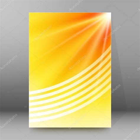 Background Report Rays Effect Background Report Title Page Booklet Layout Stock Vector