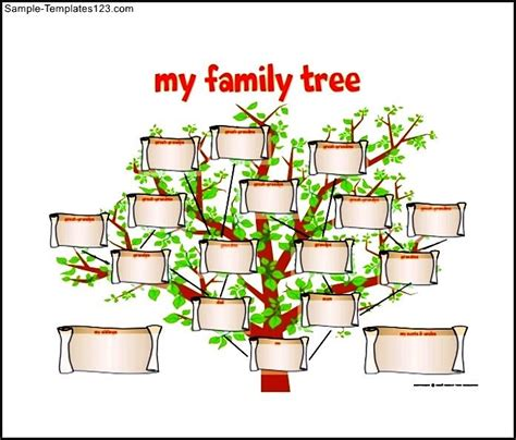 drawing a family tree template family tree diagram free pdf format sle templates