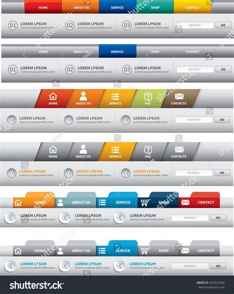 navigation menu templates web site template navigation element navigation stock